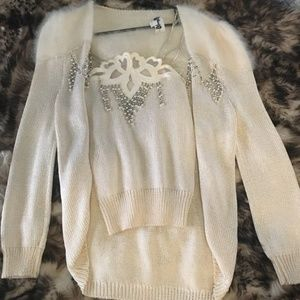 Sweaters - Vintage White Angora Sweater and cami